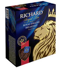 Load image into Gallery viewer, Royal English Вreakfast, black tea in tea bags, 100x2g
