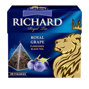 Royal Grape, flavoured black tea in pyramids, 20х1,7g