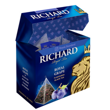 Load image into Gallery viewer, Royal Grape, flavoured black tea in pyramids, 20х1,7g
