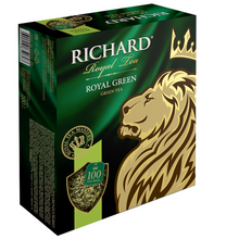 "Load image into Gallery viewer, ""Royal Green"" green tea bag 100x2g"