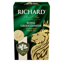 "Load image into Gallery viewer, ""Royal Green Jasmine"" green flav leaf tea 90g"