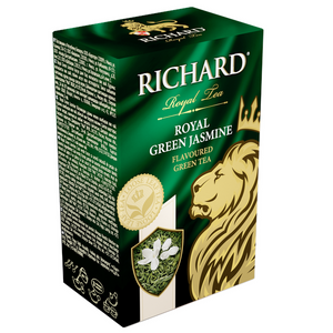 """Royal Green Jasmine"" green flav leaf tea 90g"