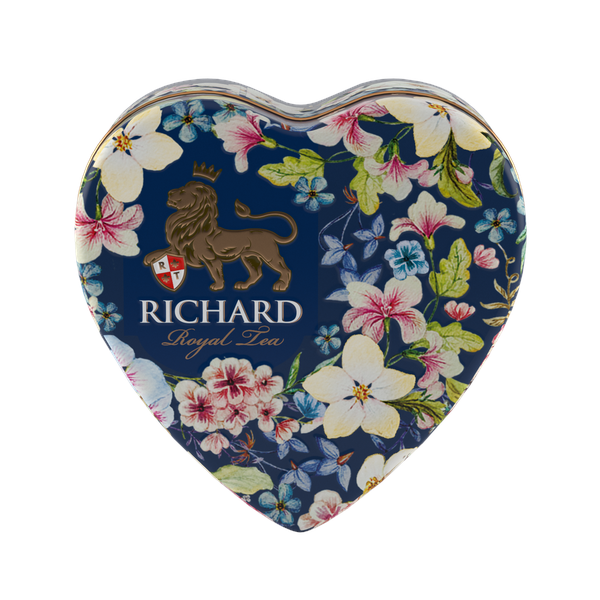 Royal Heart, flavoured loose leaf black tea 30g, tin, BLUE