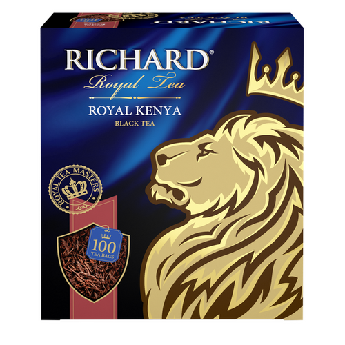 Royal Kenya, black tea in tea bags, 100x2g