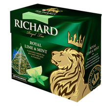 Load image into Gallery viewer, Royal Lime&Mint, flavoured green tea in pyramids, 20х1,7g