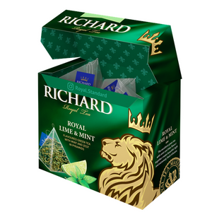 Royal Lime&Mint, flavoured green tea in pyramids, 20х1,7g
