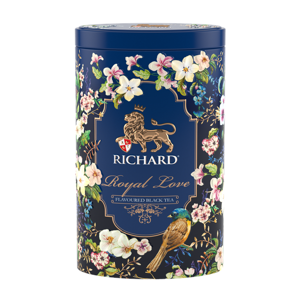 Royal Love, flavoured loose leaf black tea 80g, tin, BLUE