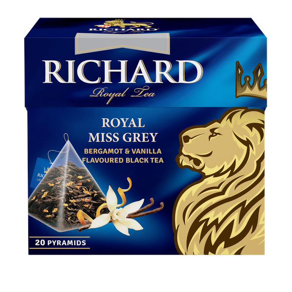 Royal Miss Grey, flavoured black tea in pyramids, 20х1,7g