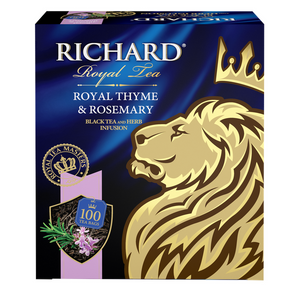 Royal Thyme & Rosemary, flavoured black tea in tea bags, 100x2g