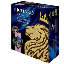 Load image into Gallery viewer, Royal Thyme & Rosemary, flavoured black tea in tea bags, 100x2g