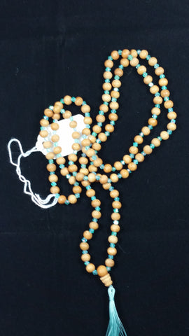 Rosewood and seed crystal mala