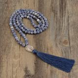Mala: Blue point agate
