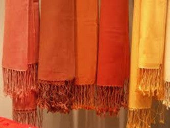 Pashmina shawls, rich and warm.