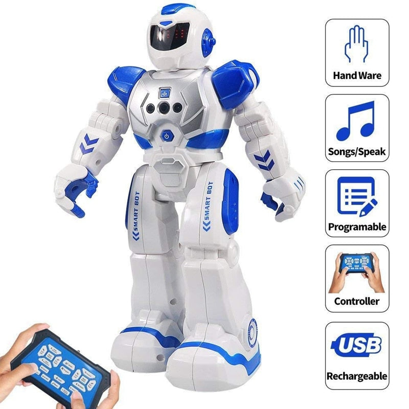 Size 26CM RC Remote Control Robot Smart Action Walk Sing Dance Action Figure Gesture Sensor Toys Gift for Children Kids Gifts
