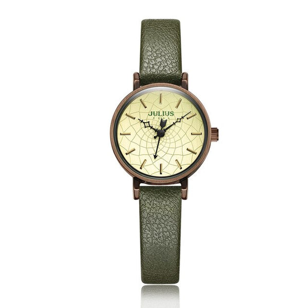 Julius Women's Wrist Watch With Leather Strap Elctronic Relojes for Girls Woche Women Dress Retro Vintage Clock JA-995