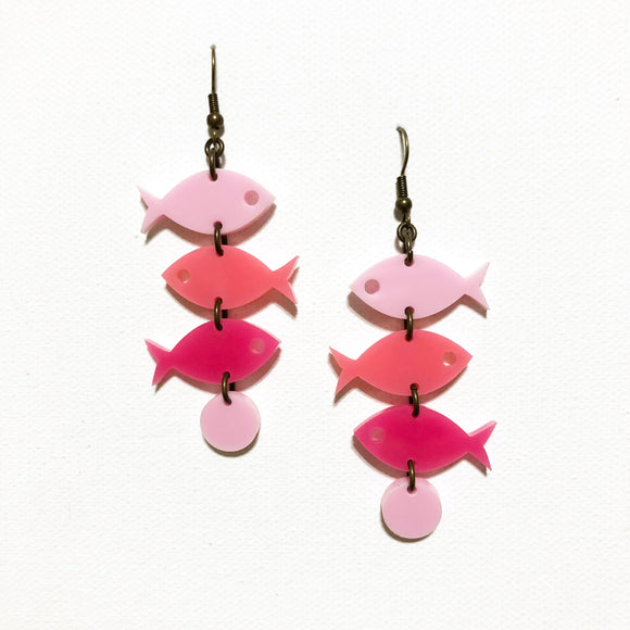 School of Fish Earrings - Pinks