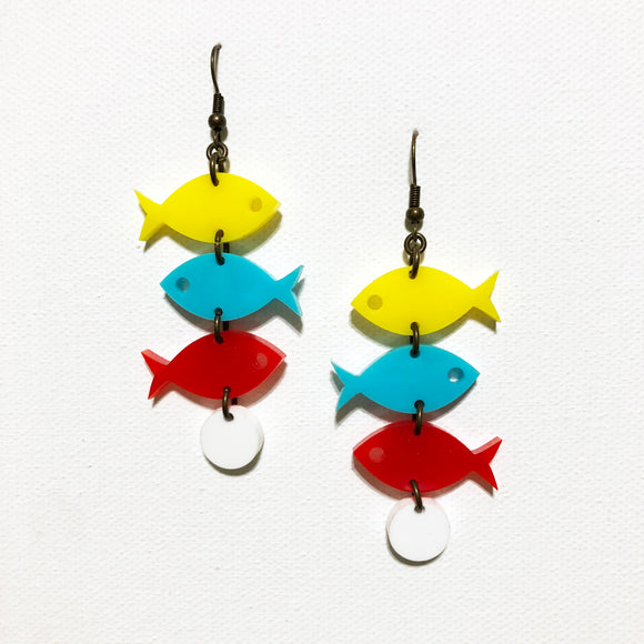 School of Fish Earrings - Modern Primaries