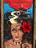 MeduSirena the Fire Eating Mermaid, Ltd Ed Gravel Art Panel