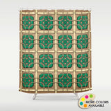 Chinese Tile Shower Curtain