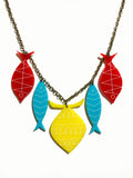 School of Fish Necklace - Modern Primaries
