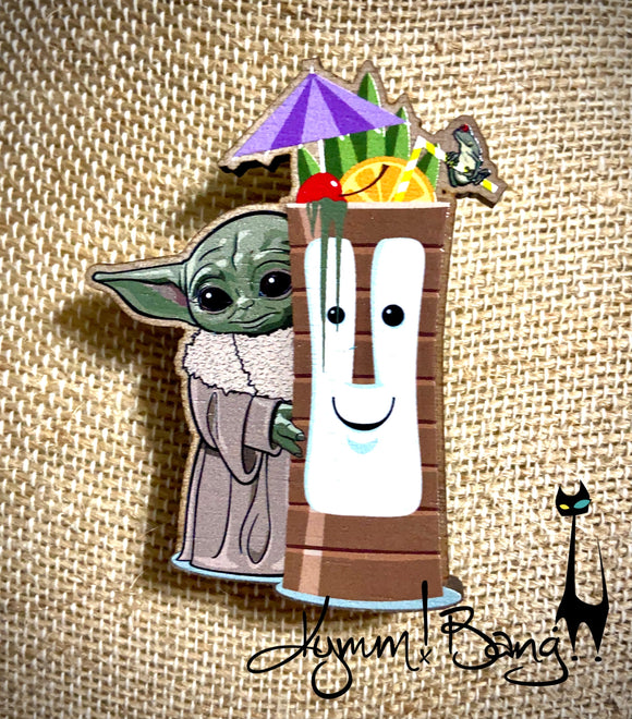 DagoBahb - Tiki Bob and Baby Yoda Pin