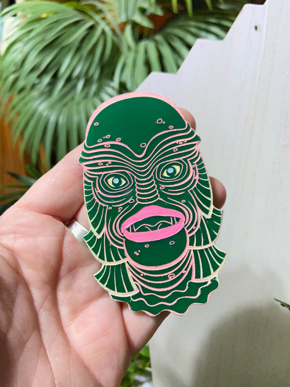Creature #18 Large Green Pin