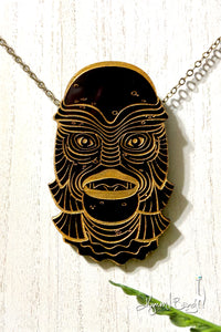 Creature #10 Large Gold Pendant