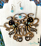 Tangled Octopus Necklace and Float Earrings