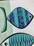 Atomic Fish Gravel Art - Green and Blue