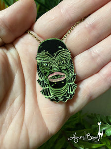 Creature #11 Small Pastel Pendant Necklace