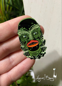 Creature #13 Small Green Pin
