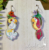Enchanted Tiki Room Birds- Earrings or Brooch Pairs