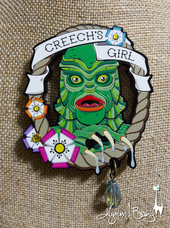 Creech's Girl - Embellished Necklace or Brooch