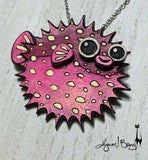 Pink BlowBall Necklace