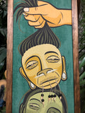 Shrunken Heads Gravel Art Green and Yellow Variant