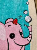 Bubbles the Pink Drinky Elephant Gravel Art