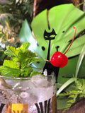 Black Cat Swizzle Sticks