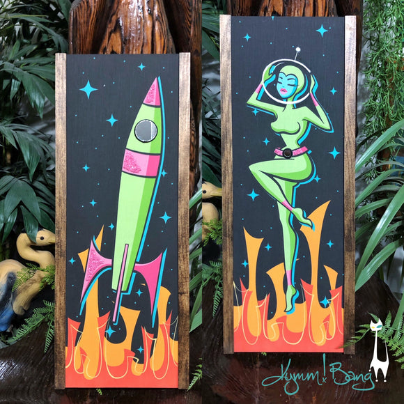 Atomic Adventures in Space Gravel Art Pair - Color Variant