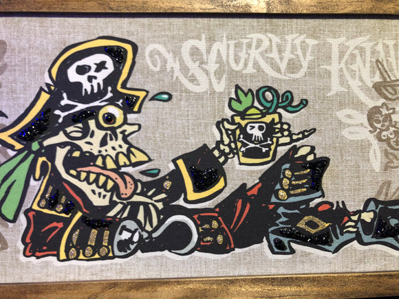 Scurvy Knave by BigToe - Ltd Ed Gravel Art Panel