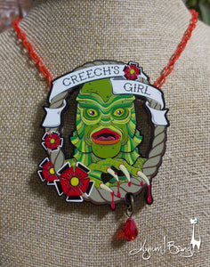 Creech's Girl - Bloody Embellished Necklace or Brooch