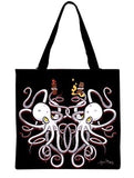 Curious Octopus Tote Bag