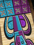 Aloha-Ha Turquoise and Purple Gravel Art