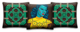 Turquoise Girl Premium Pillow Cover