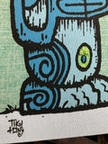 Tiki tOny Ltd Ed Gravel Art Panel