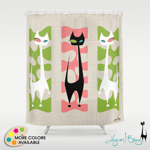 Roxy Cat Shower Curtain