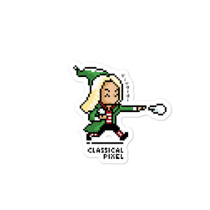 Vivaldi as Elf Sticker - ClassicalPixel