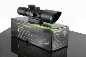 MIRA TELESCOPICA RIFLE SCOPE WITH LASER SIGHT 3-10X42