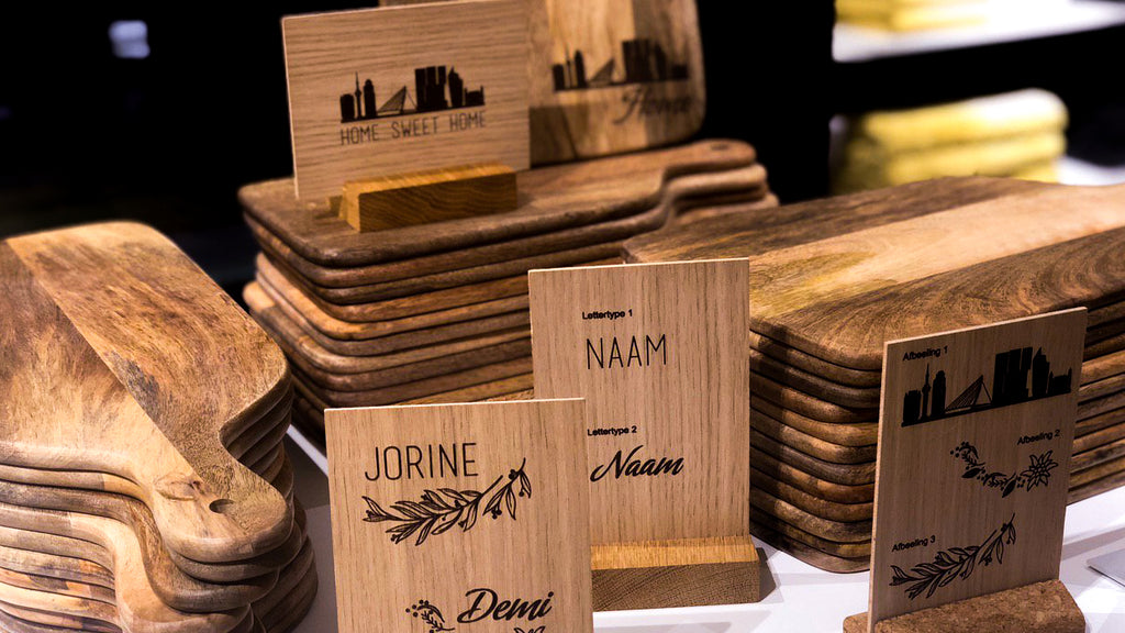 Rotterdam pride engraved on H&M cutting boards