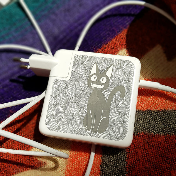 iMac charger with kiki's delivery service engraving