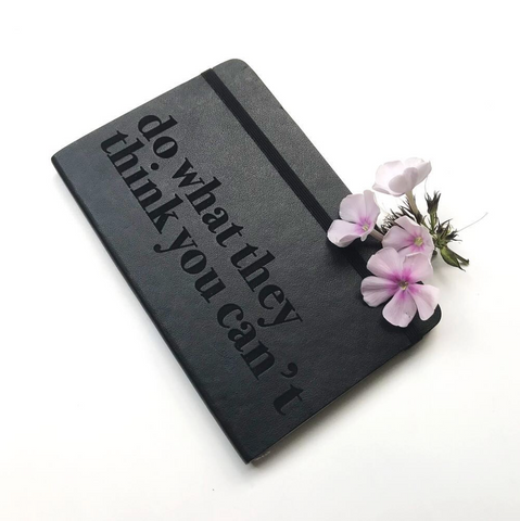 Moleskine with flowers